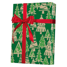 X3151, Holiday Forest/Kraft - Available 4 widths and 3 roll sizes