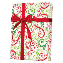 X5503, Christmas Swirls - Available 2 widths and 3 roll sizes