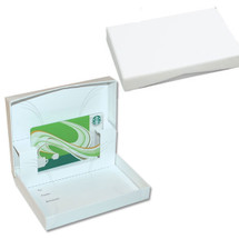 B28117, Pop-Up Gift Card Boxes - Gloss White (White Interior) - 100 per pack