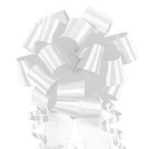 "A50329, Flora Satin Perfect Bow, 4"", White"