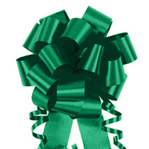"A50338, Flora Satin Perfect Bow, 4"", Emerald"