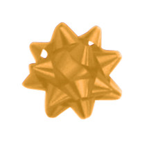 "A50279, Splendorette Star Bow, 2-3/4"", Holiday Gold"