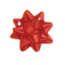 "A50281, Splendorette Star Bow, 2-3/4"", Red"