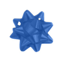 "A50289, Splendorette Star Bow, 2-3/4"", Royal"