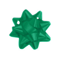 "A50293, Splendorette Star Bow, 2-3/4"", Emerald"