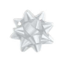 "A50295, Splendorette Star Bow, 2-3/4"", Silver"