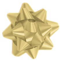 "A50301, Splendorette Star Bow, 3-3/4"", Gold"
