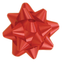 "A50305, Splendorette Star Bow, 3-3/4"", Red"