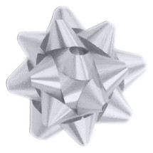 "A50321, Splendorette Star Bow, 3-3/4"", Silver"