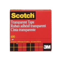"A84002, Glossy Scotch Tape, 1/2"" x 72 yds., Transparent"