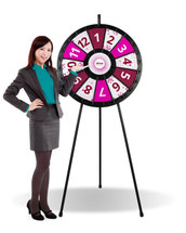 "12 to 24-slot Floor stand Classic Prize Wheel (31"" diameter)"