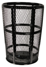 48 Gallon Metal Mesh Street Park Trash Receptacle EXP52 (5 Colors, 7 Lid Styles)