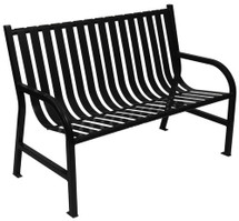 4 Foot Oakley Indoor/Outdoor Slatted Bench (4 Color Choices)