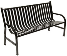 6 Foot Oakley Indoor/Outdoor Slatted Bench (4 Color Choices)