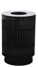 40 Gallon Laser Cut Mason Outdoor Waste Can (Flat top lid, 4 colors)