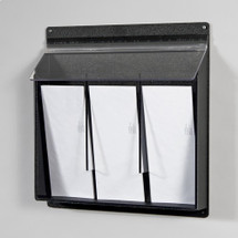 Exterior Wall Mount Acrylic 3-Pocket Literature Holder