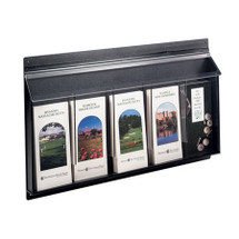Exterior Wall Mount Acrylic 5-Pocket Literature Holder