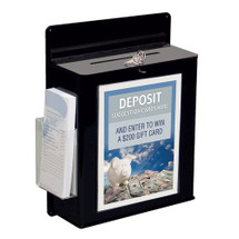 Locking Wall Hanging Entry Box with Sign Holder & Brochure Pocket
