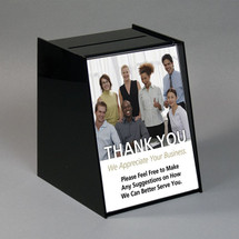 "Black Acrylic Registration Box with 8.5""w x 11""h Sign Area"