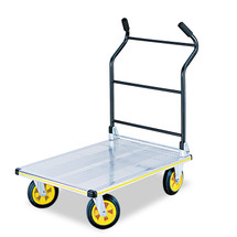 Stow-Away Platform Truck, 1,000 lb Capacity, 24 x 39 x 40, Aluminum/Black