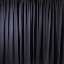 "Premium Drape Panel 60"" Wide -Inherently Flame Resistant (IFR) / Wrinkle Resistant."