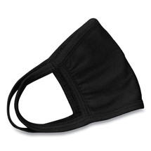 Cotton Face Mask with Antimicrobial Finish, Black (priced 10/pack)