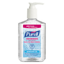 Advanced Hand Sanitizer Refreshing Gel, Clean Scent, 8 oz Pump Bottle