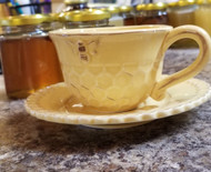 Bee Embossed Tea Cup with Saucer