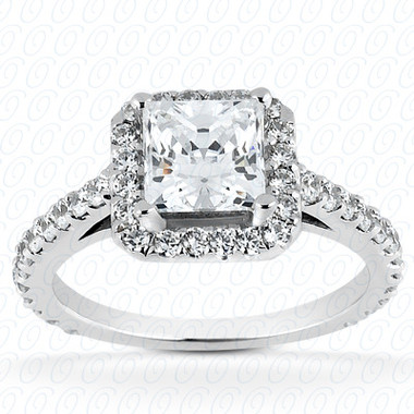 0.65 Diamond tcw on Ring Setting - Main Stone Not Included