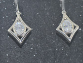 5.00 TCW, Loucriz Diamond Shape Drop Earrings - LC286