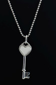 Tiffany Keys by Tiffany & Co. Heart Key Pendant With Chain - LC292