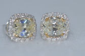 14k Natural Light Yellow Diamond Earrings - EK01