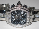 Mens Cartier Roadster Chronograph Diamond Watch, XL