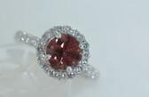 Platinum Fancy Pink Diamond Ring - EK09