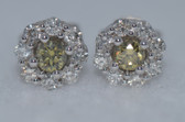 14k Diamond Earrings - EK13