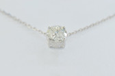 14k Round Cut Solitaire Diamond Pendant - EK20