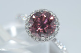 18k Fancy Pink Diamond Ring - EK21