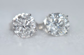 Round Cut Diamond Stud Earrings - EK30