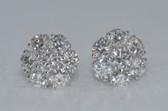 Fancy Diamond 14K Gold Earrings - EK31