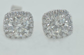 Womens Round Cut Pavå_ Diamond Earrings - EK45