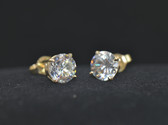2 TCW, 14K Yellow Gold Loucriz Earrings - LC176YG