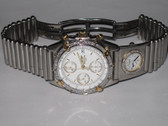 Mens Breitling Chronomat UTC 18K Gold Diamond Watch