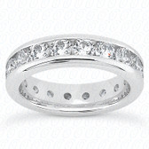 Round Brilliant Channel Set Diamond Eternity Band - MCET1006