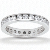 Round Brilliant Channel Set Diamond Eternity Band - EWB421-15