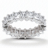 Princess Prong Set Diamond Eternity Band - EWB231