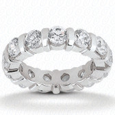 Round Brilliant Bar Set Diamond Eternity Band - EWB322