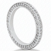 Round Brilliant Bead Set Diamond Eternity Band