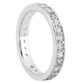 Round Brilliant Bead Set Single Row Diamond Eternity Band