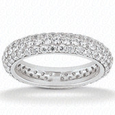 Round Brilliant Bead Set Diamond Eternity Band - EWB458-7
