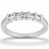 Princess Bar Set Diamond Wedding Band - WB2735